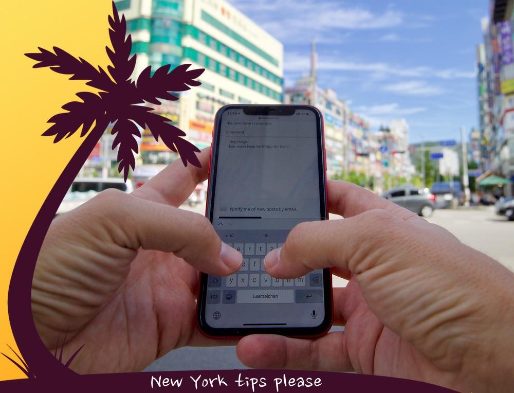 Foto von einem iPhone mit dem Kommentarbereich